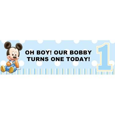 Disney Mickey's 1st Birthday Personalized Banner