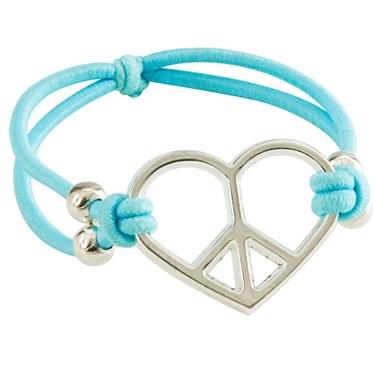"""7"""" Heart-Shaped Peace Bracelets"""