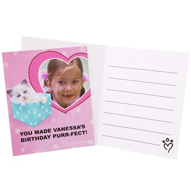 rachaelhale Glamour Cats Personalized Thank-You Notes