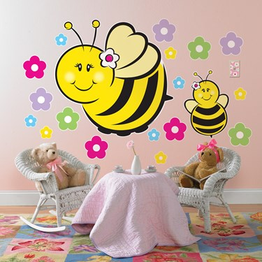 Sweet-As-Can-Bee Giant Wall Decals