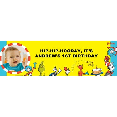 Dr. Seuss 1st Birthday Personalized Photo Banner