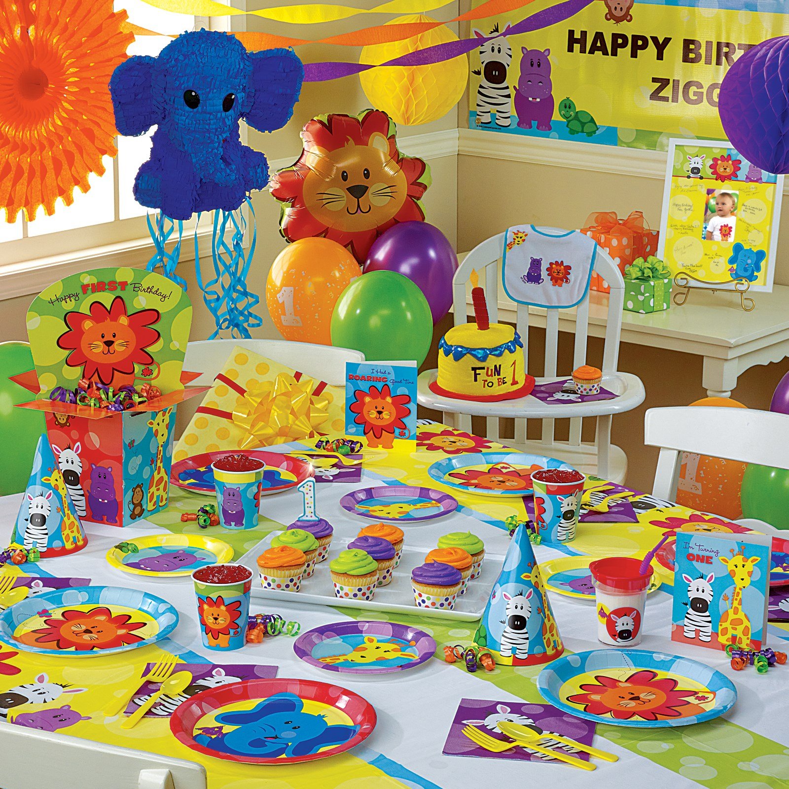 Safari Friends 1st Birthday Ultimate Party Pack