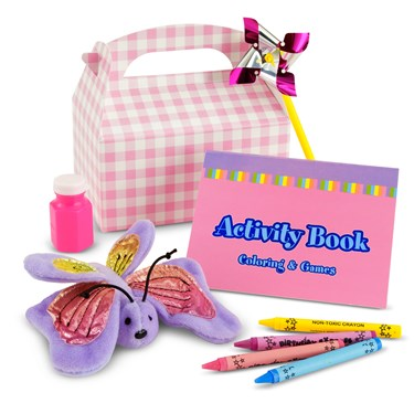 Pink and White Girl Filled Party Favor Box