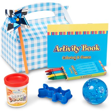 Little Boy Blue Birthday Filled Party Favor Box