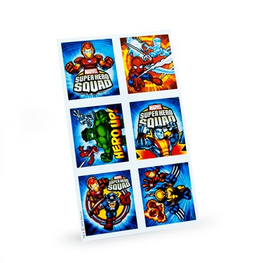Marvel Super Hero Squad Sticker Sheets