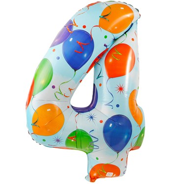 #4 Foil Balloon with Streamer