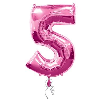 #5 Pink Foil Balloon
