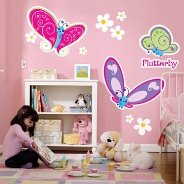 Flutterby Butterflies Giant Wall Decals