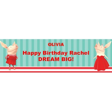 Olivia Personalized Vinyl Banner