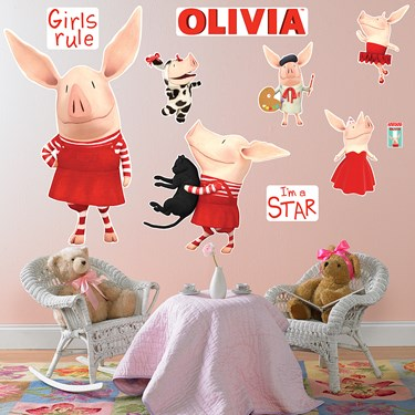 Olivia Giant Wall Decals