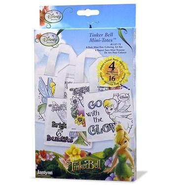 Disney Tinker Bell Fairies Mini Tote Coloring 4-Pack