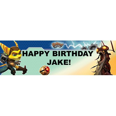Ratchet and Clank Personalized Birthday Banner