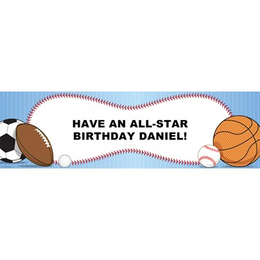 Sports Personalized Vinyl Banner