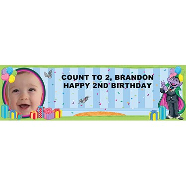 The Count Personalized Photo Banner