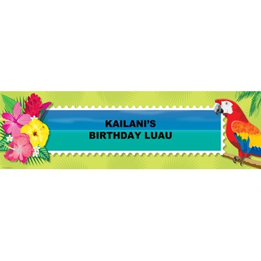 Tropical Luau Personalized Banner