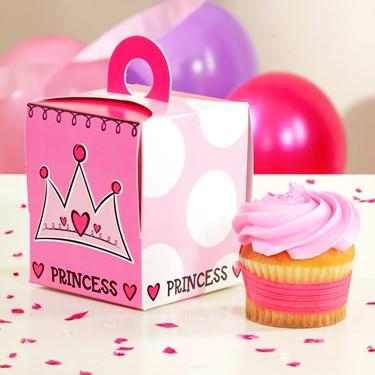 Birthday Princess Cupcake Boxes