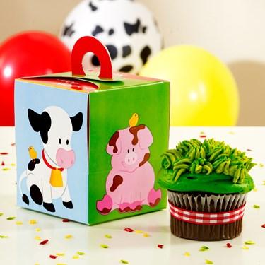 Barnyard Cupcake Boxes
