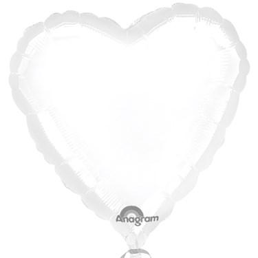 White Heart Foil Balloon
