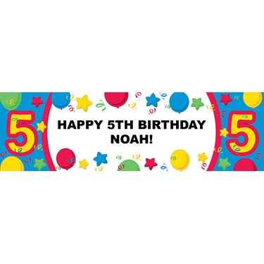 #5 Primary Personalized Birthday Banner