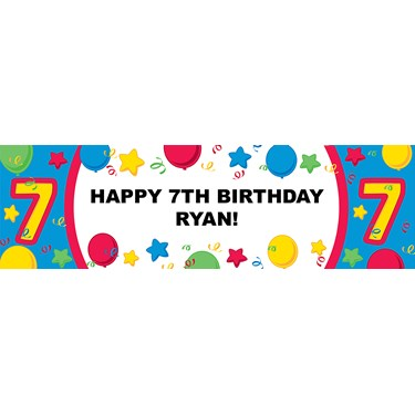 #7 Primary Personalized Vinyl Banner