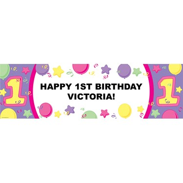 #1 Pastel Personalized Birthday Banner