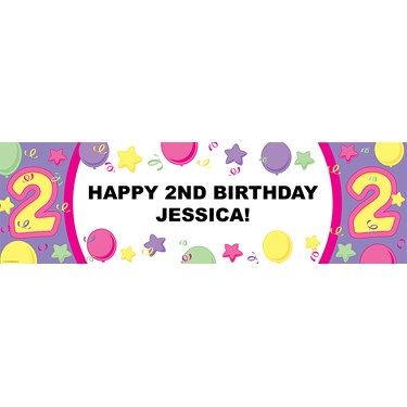 #2 Pastel Personalized Birthday Banner