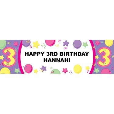#3 Pastel Personalized Birthday Banner