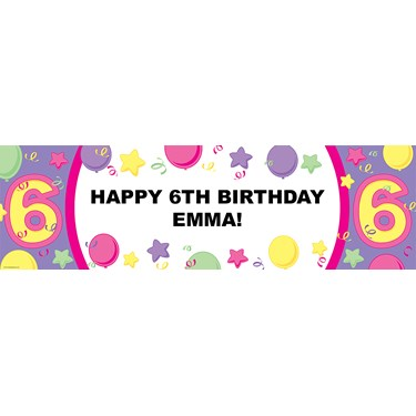 #6 Pastel Personalized Birthday Banner