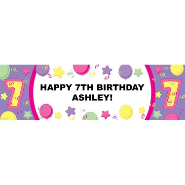 #7 Pastel Personalized Vinyl Banner