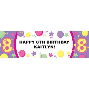 #8 Pastel Personalized Birthday Banner