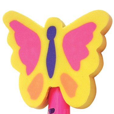 Butterfly Eraser Toppers Assorted