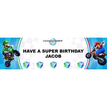 Mario Kart Wii Personalized Vinyl Banner