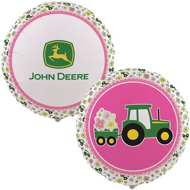John Deere Pink Foil Balloon