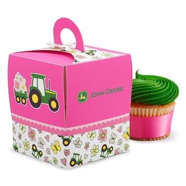 John Deere Pink Cupcake Boxes