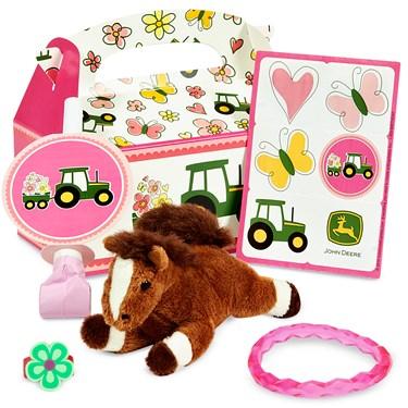 John Deere Pink Filled Party Favor Box