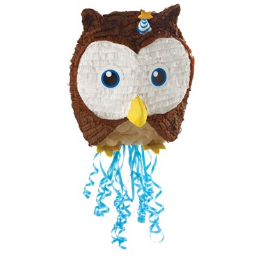 Owl Blue Pull-String Pinata