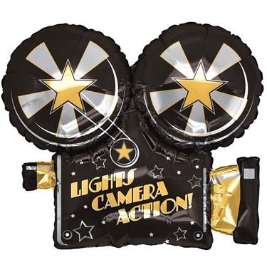 Lights, Camera, Action Foil Balloon