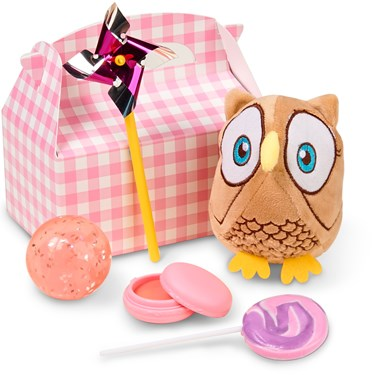 Look Whoo's 1 Pink Filled Party Favor Box