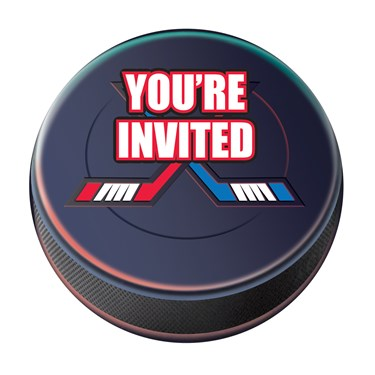 Hockey Postcard Invitations