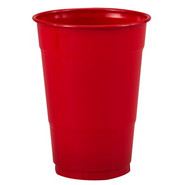 Classic Red (Red) 16 oz. Plastic Cups