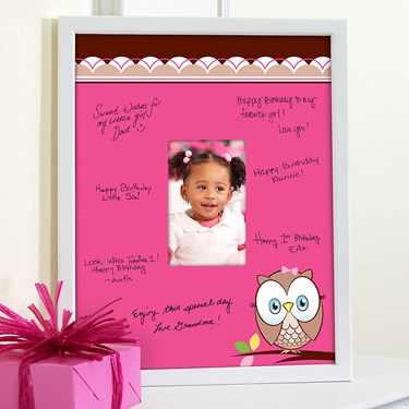 Look Whoo's 1 Pink Framed Signature Matte