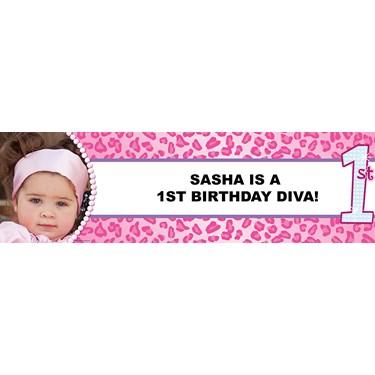 1st Birthday Diva Personalized Photo Banner