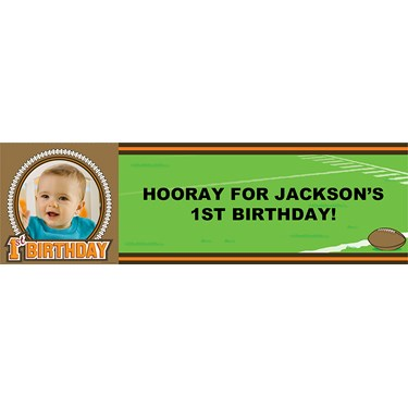 Lil' Quarterback 1st Birthday Personalized Photo Banner
