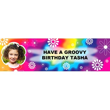 Hippie Fun Personalized Photo Banner