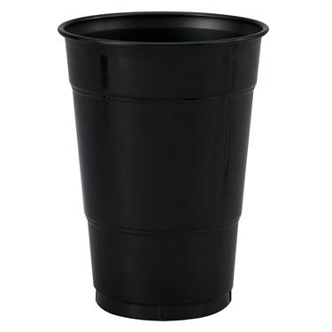 Black Velvet (Black) 16 oz. Plastic Cups