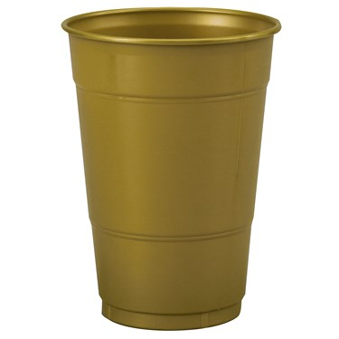 Glittering Gold (Gold) 16 oz. Plastic Cups