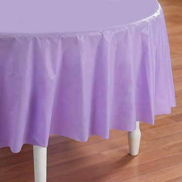 Luscious Lavender (Lavender) Round Plastic Tablecover