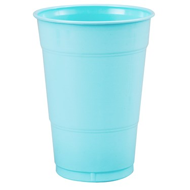 Pastel Blue (Light Blue) 16 oz. Plastic Cups