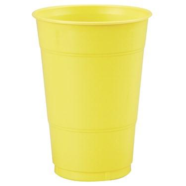 Mimosa (Light Yellow) 16 oz. Plastic Cups