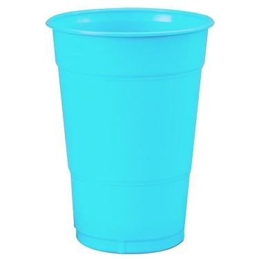 Bermuda Blue (Turquoise) 16 oz. Plastic Cups